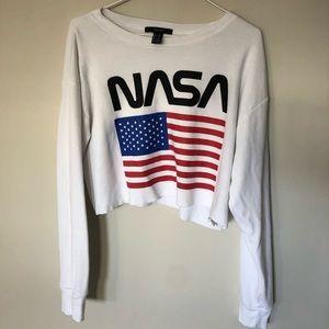 """Cropped """"NASA"""" long sleeve"""